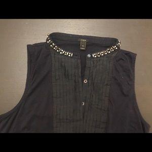 J. Crew shirt with rhinestone finish collar EUC